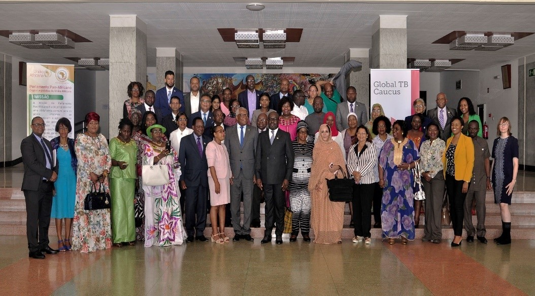 Members of the Pan African Parliament (PAP) during the 3rd Parliamentary TB summit where they were sensitized on TPT